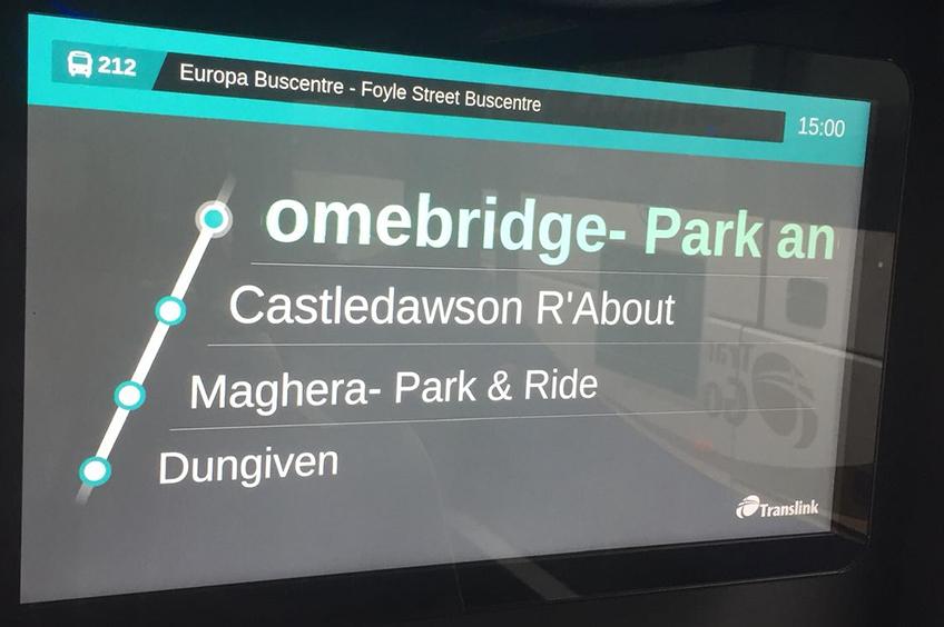 Bus next stop announcement display