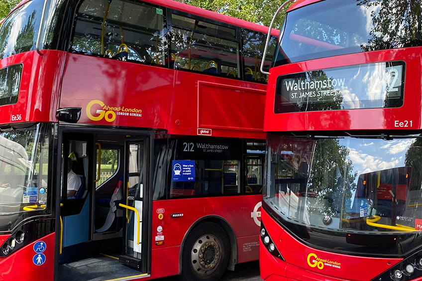 Connected bus fleets